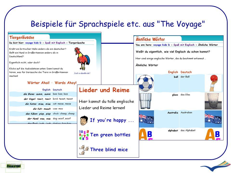 Beispiele für Sprachspiele etc. aus