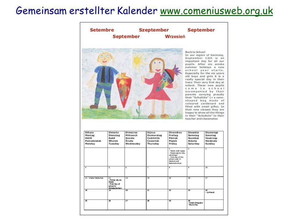Gemeinsam erstellter Kalender www.comeniusweb.org.ukwww.comeniusweb.org.uk
