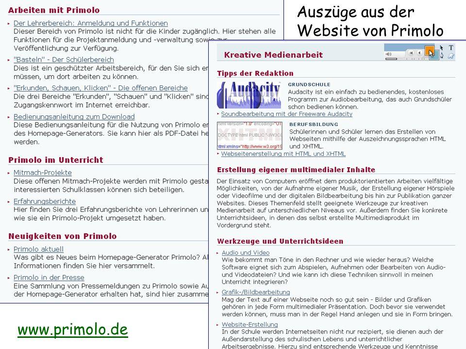 Auszüge aus der Website von Primolo www.primolo.de