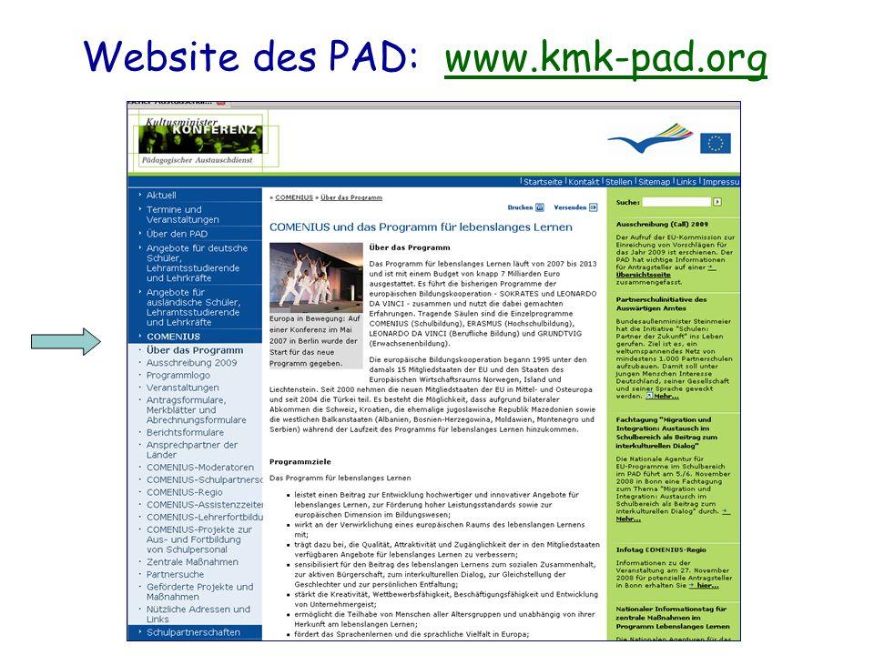 Website des PAD: www.kmk-pad.orgwww.kmk-pad.org