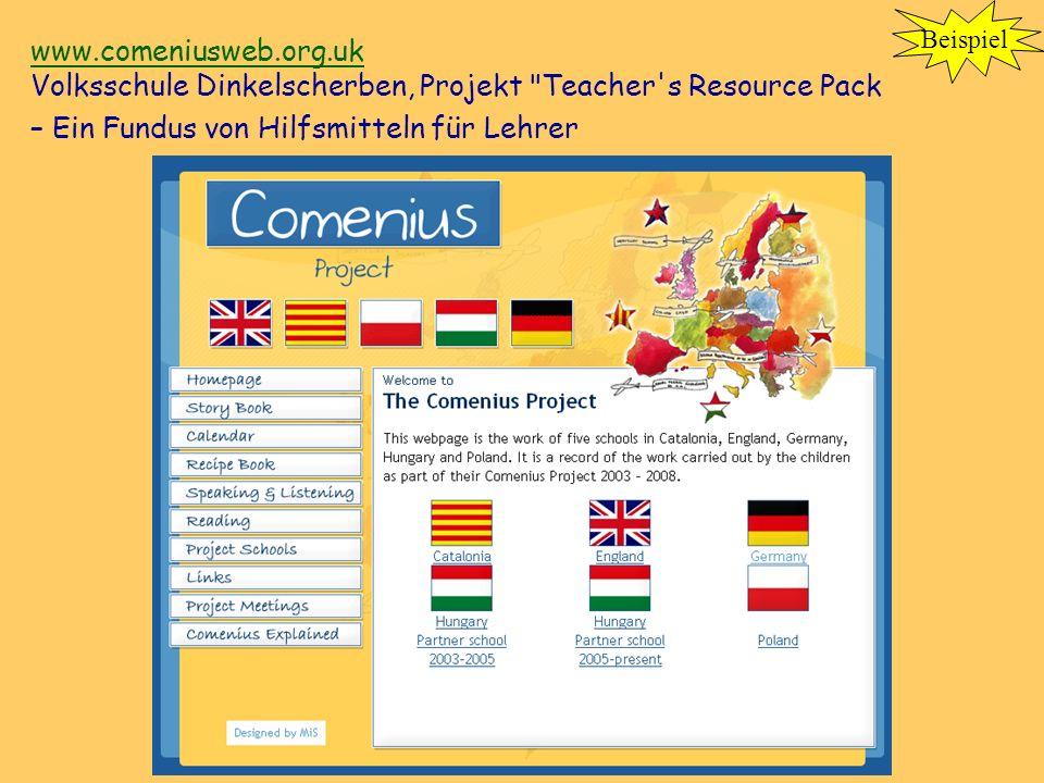 www.comeniusweb.org.uk www.comeniusweb.org.uk Volksschule Dinkelscherben, Projekt