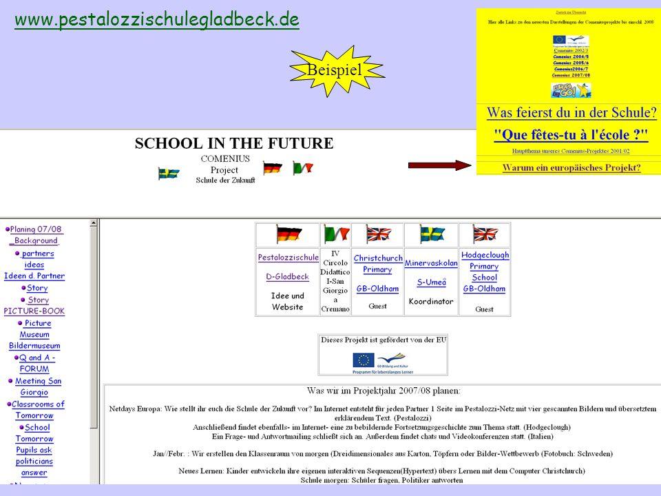 Projektdaten- bank bei eTwinning Projektbeschreibungen und ggf.