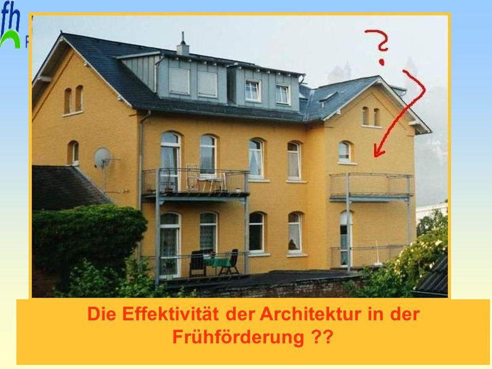 Erfurt, 29. November 2010 Prof. Dr. Armin Sohns Die Effektivität der Architektur in der Frühförderung ??