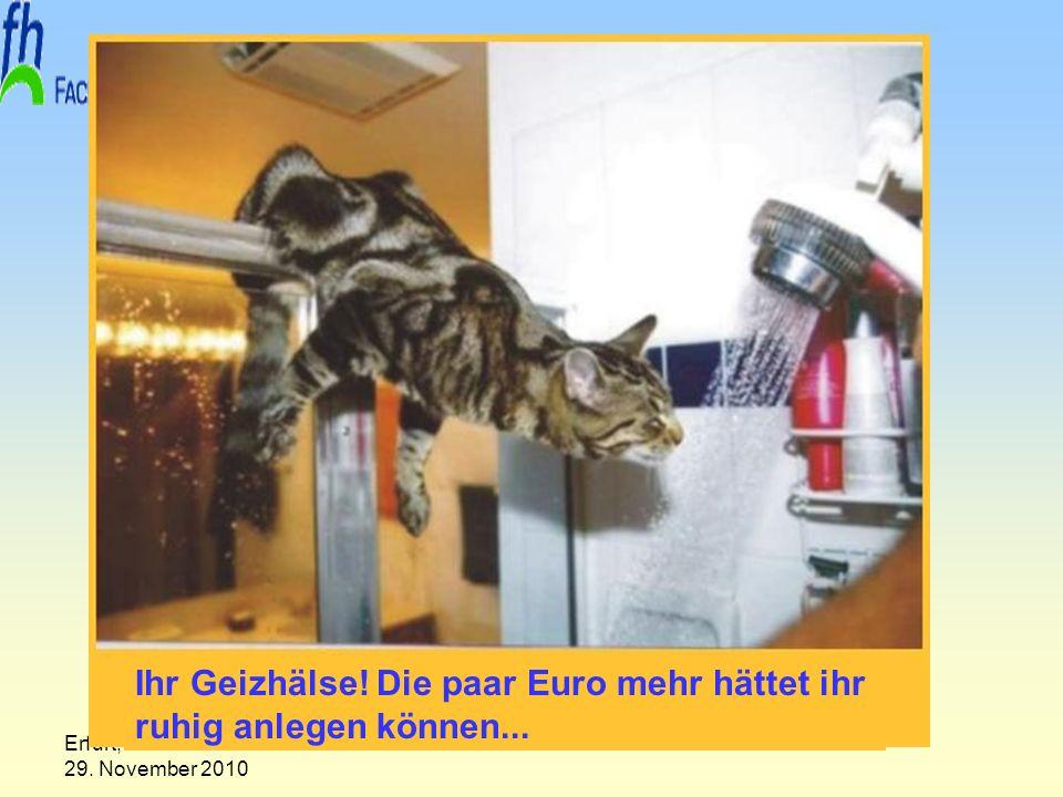 Erfurt, 29. November 2010 Prof. Dr. Armin Sohns Ihr Geizhälse! Die paar Euro mehr hättet ihr ruhig anlegen können...