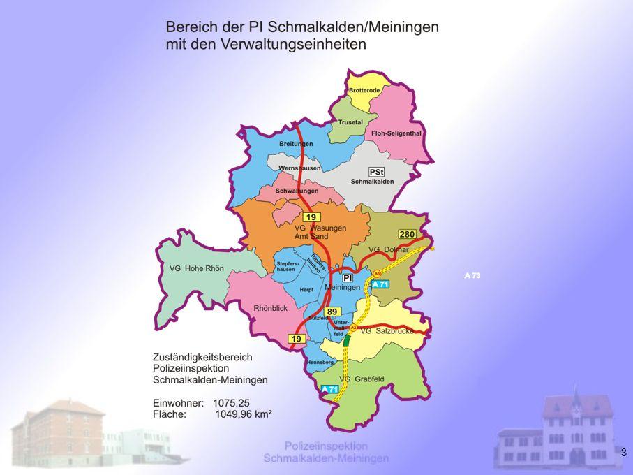 4 Strukturdaten - Verkehrsraum Nord-Süd-Ausdehnung:70 km Ost-West-Ausdehnung:60 km Autobahn A 71 mit Abzweig A 73 –40,5 km –3 Auf- und Abfahrten –10 Großbrücken (Gesamtlänge: 4.871 m) –Tunnel Eichelberg (Länge: 1.110 m) Bundesstraßen B 19, B 89 und B 285 (Gesamtlänge: 62,2 km) Straßennetz:3.362 km Gesamtlänge