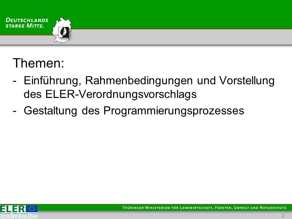 Einführung, Rahmenbedingungen - Anfang Oktober 2011 Vorstellung u.