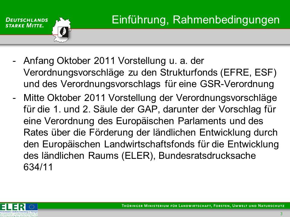 Einführung, Rahmenbedingungen -Zur GAP einschl.2.