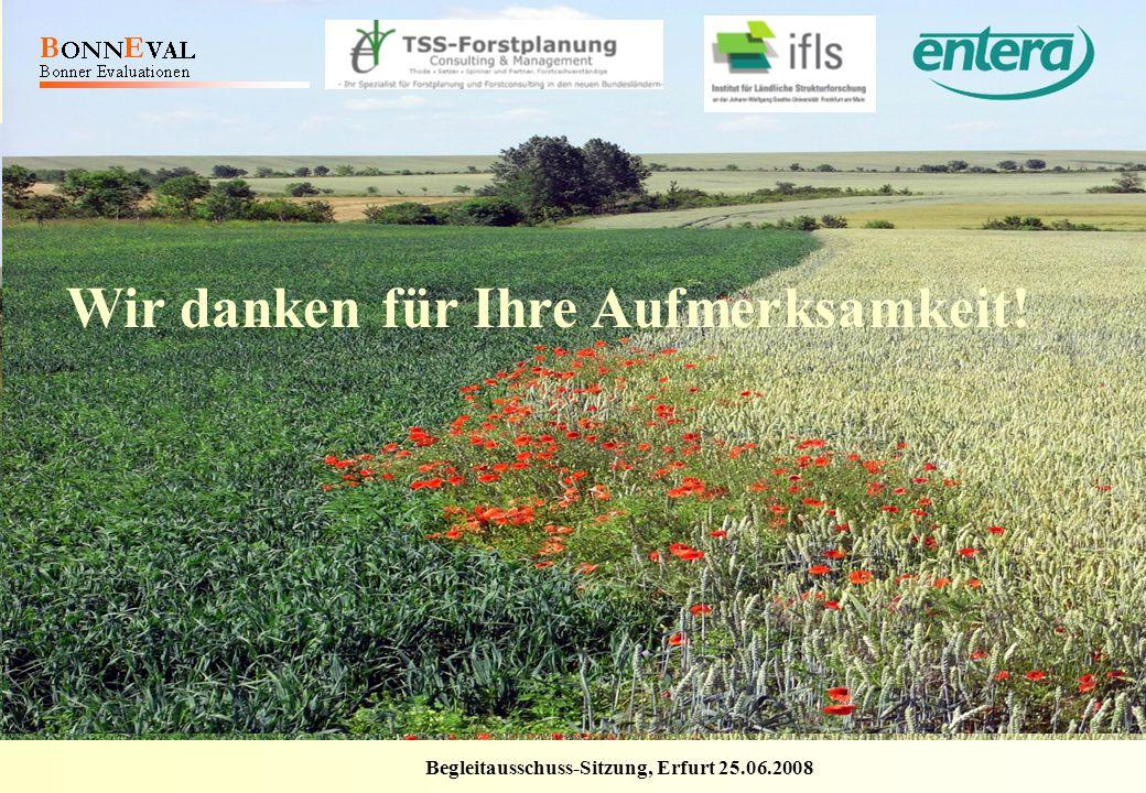 Begleitausschuss-Sitzung, Erfurt 25.06.2008 Laufende Bewertung der FörderInitiative Ländliche Entwicklung in Thüringen 2007 - 2013 Bericht 2008 Wir da