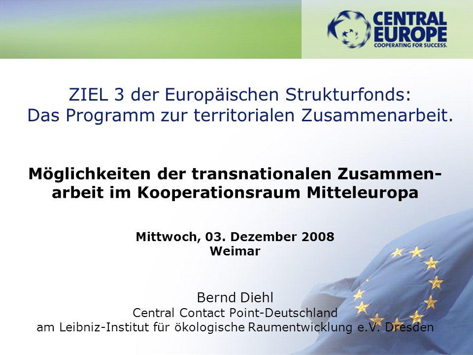 ZIEL 3 der Europäischen Strukturfonds: Das Programm zur territorialen Zusammenarbeit.