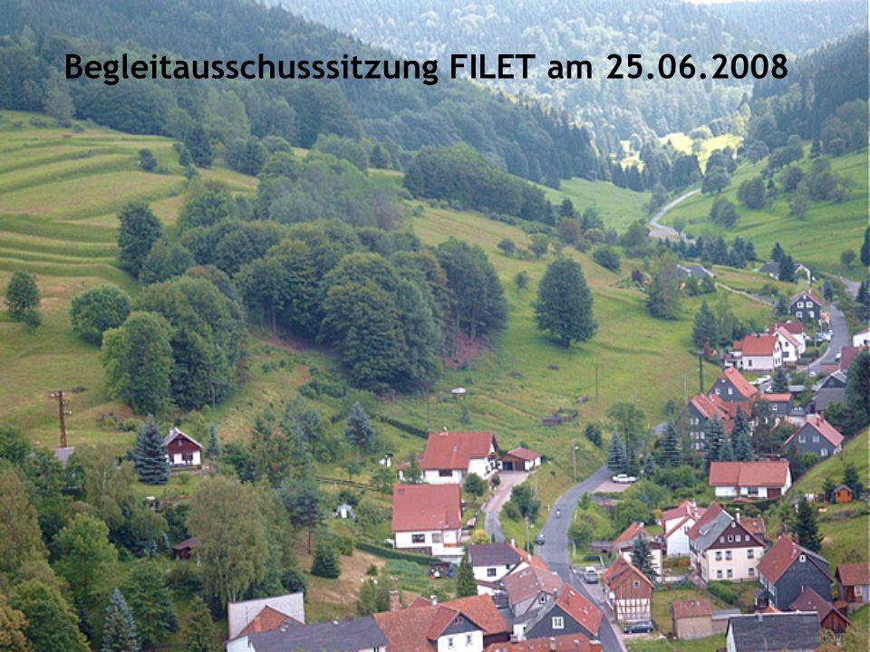 Begleitausschusssitzung FILET am 25.06.2008