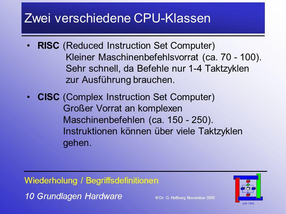 10 Grundlagen Hardware © Dr.G.