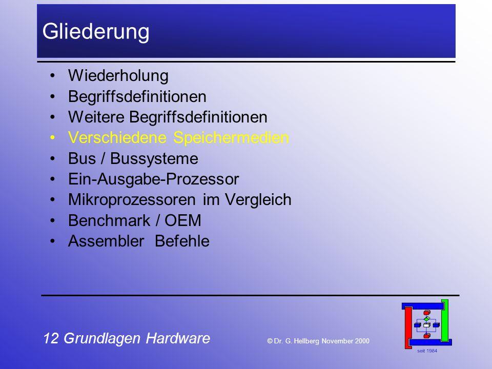 12 Grundlagen Hardware © Dr.G.
