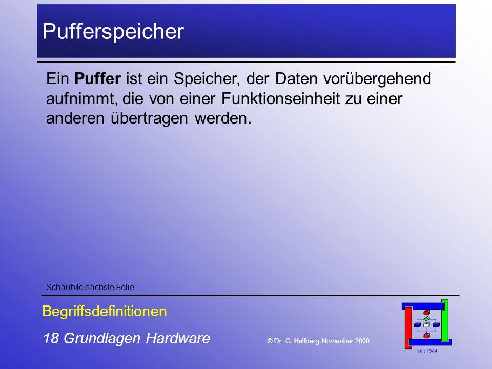 18 Grundlagen Hardware © Dr.G.