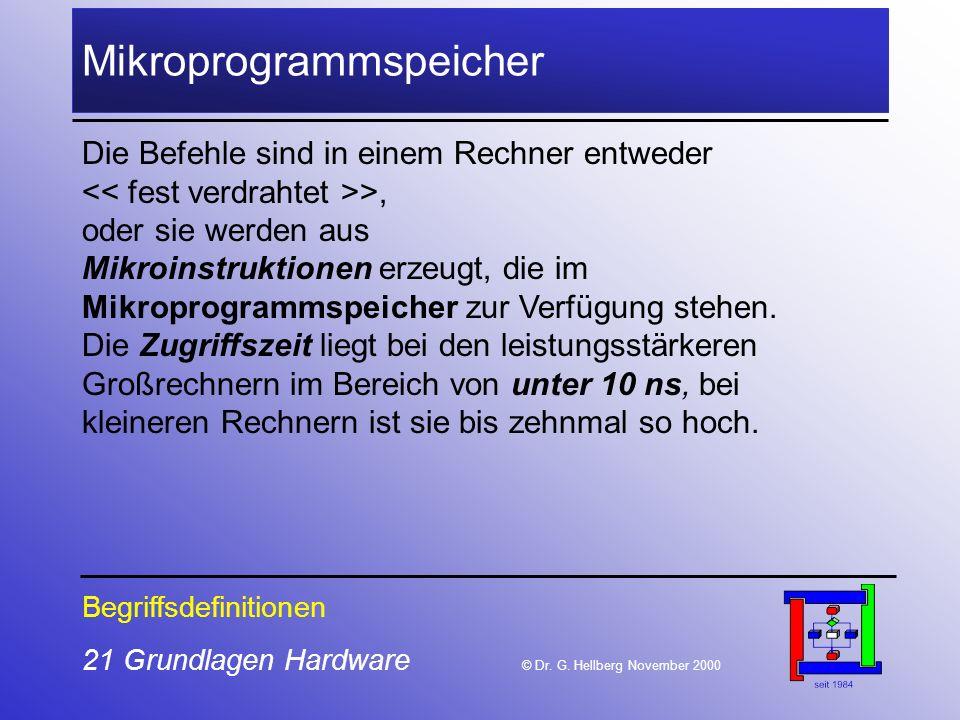 21 Grundlagen Hardware © Dr.G.