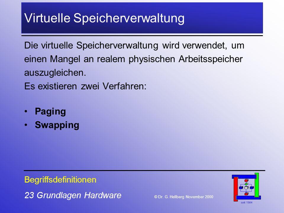 23 Grundlagen Hardware © Dr.G.
