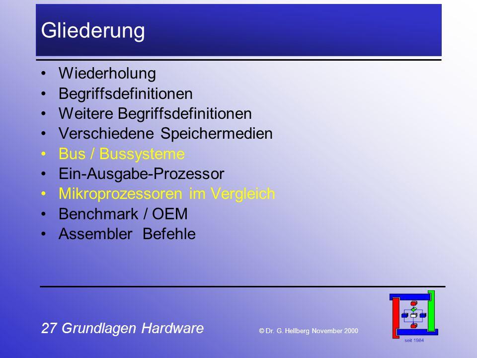 27 Grundlagen Hardware © Dr.G.