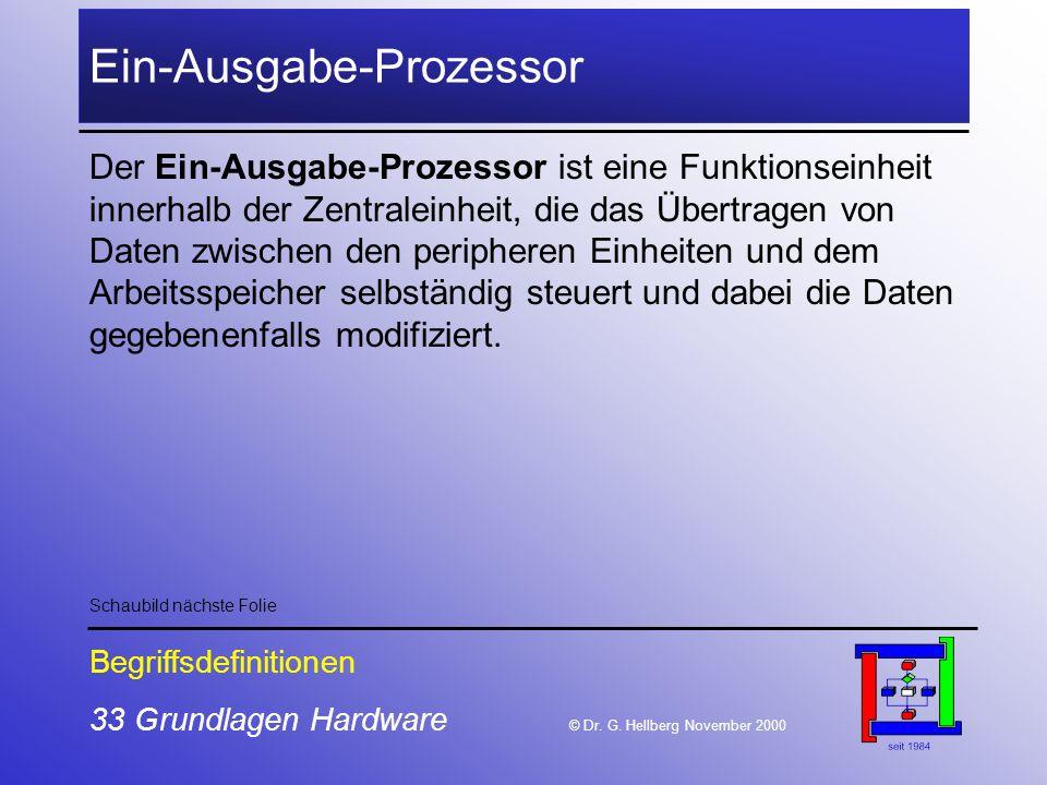33 Grundlagen Hardware © Dr.G.