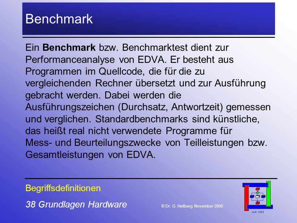 38 Grundlagen Hardware © Dr.G.