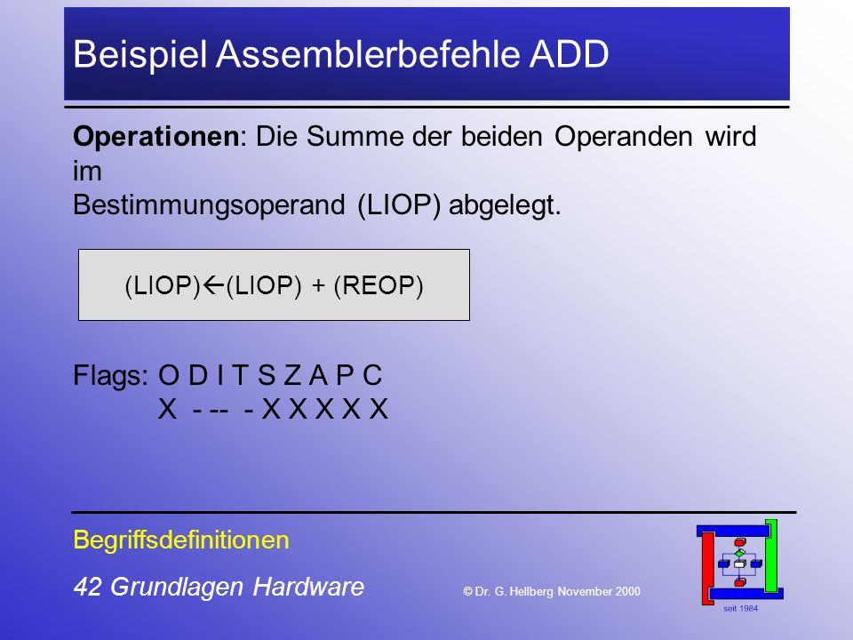 42 Grundlagen Hardware © Dr.G.