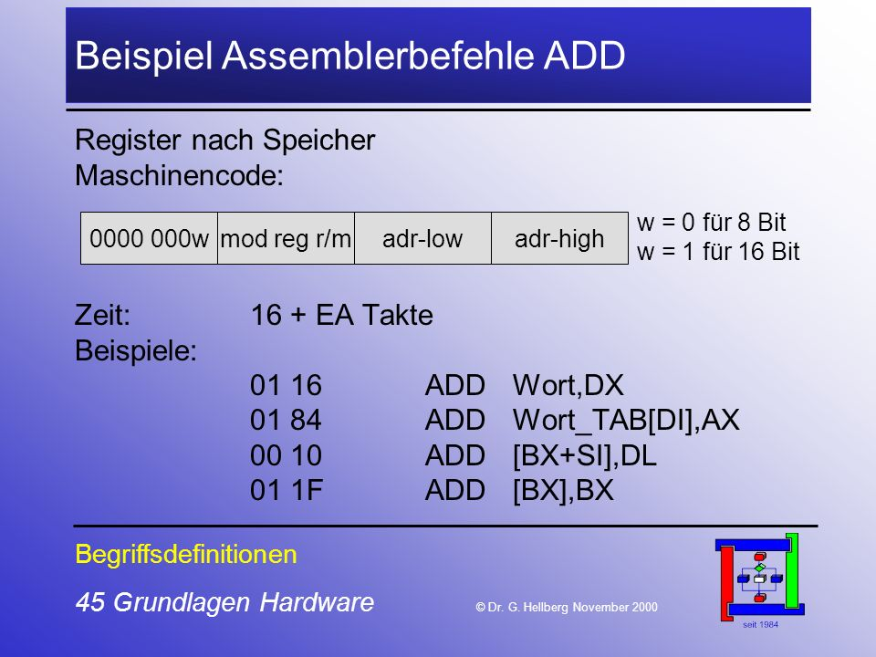 45 Grundlagen Hardware © Dr.G.