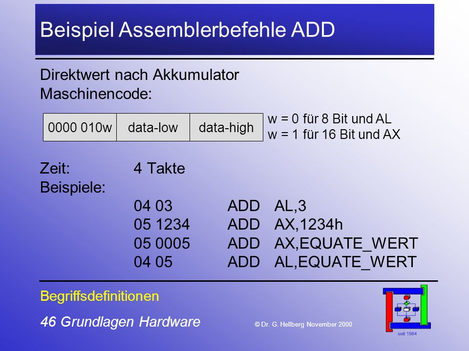 46 Grundlagen Hardware © Dr.G.