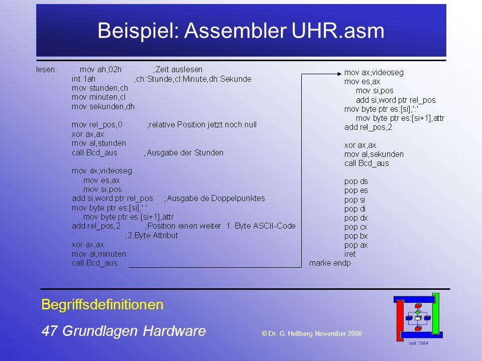 47 Grundlagen Hardware © Dr.G.