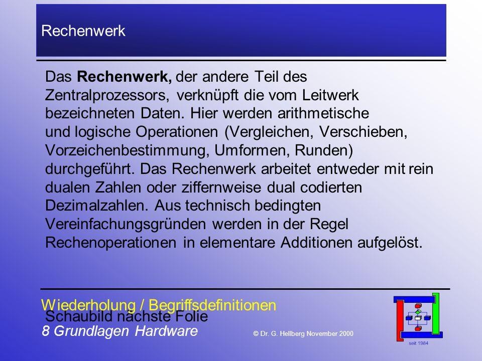 8 Grundlagen Hardware © Dr.G.