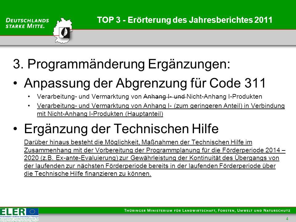 TOP 3 - Erörterung des Jahresberichtes 2011 3.