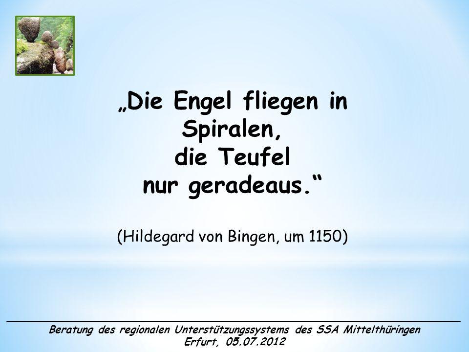 Die Engel fliegen in Spiralen, die Teufel nur geradeaus. (Hildegard von Bingen, um 1150) _____________________________________________________________