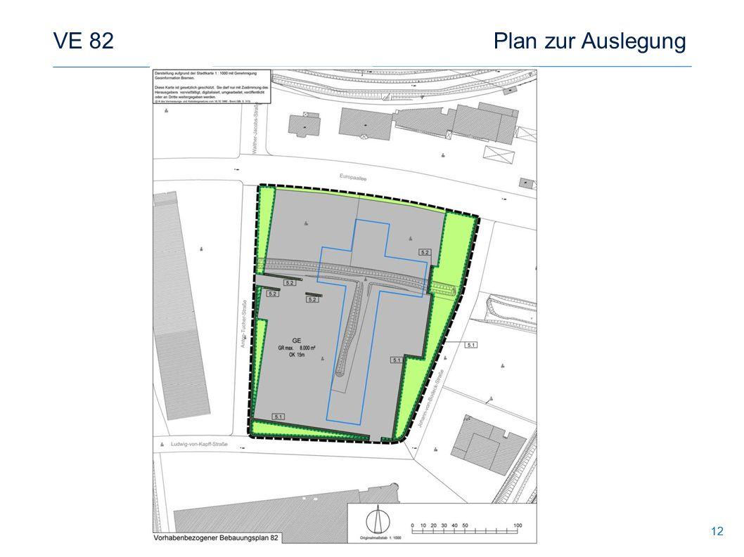 12 VE 82 Plan zur Auslegung