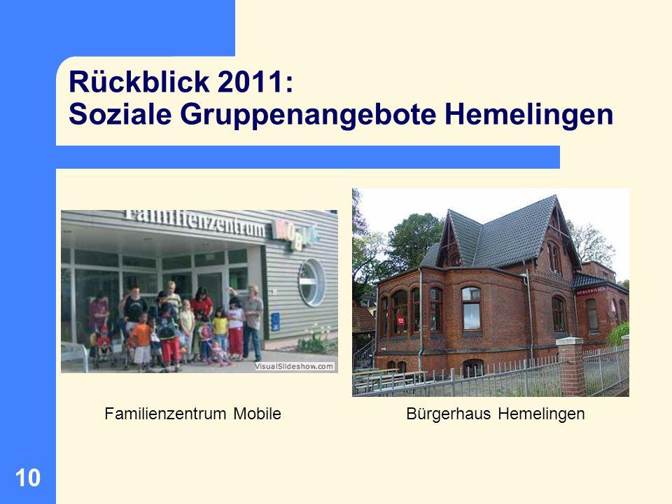 11 Rückblick 2011: Soziale Gruppenangebote Hastedt / Sebaldsbr.