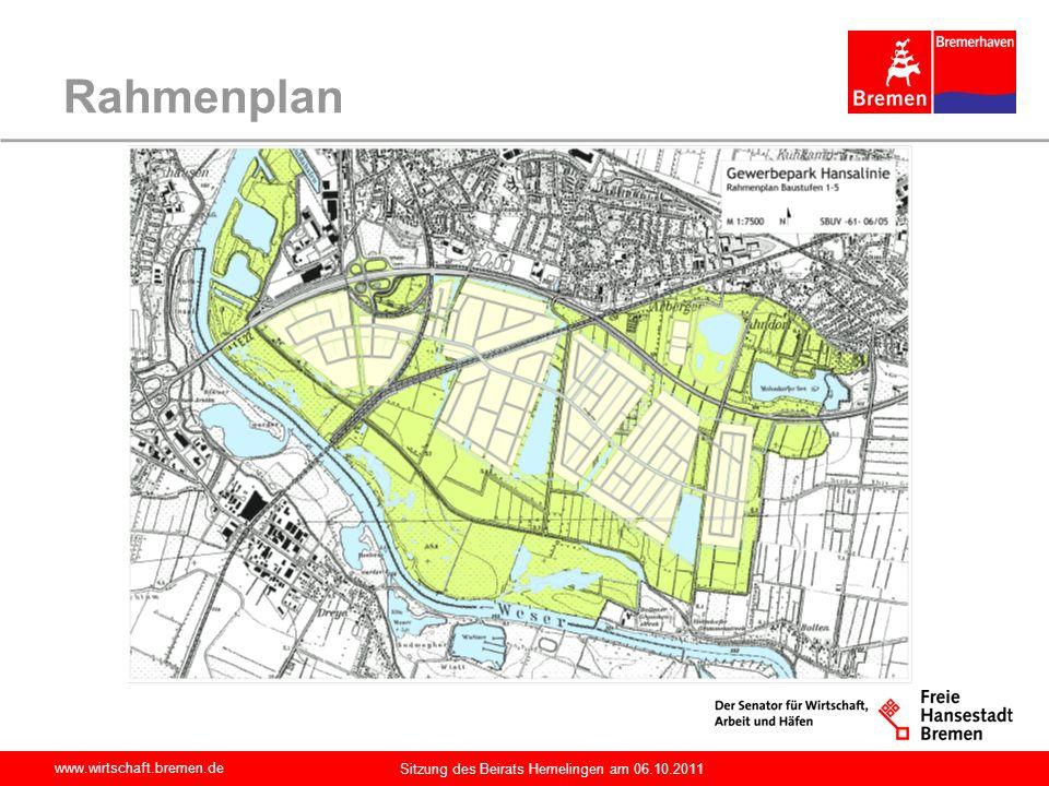 www.wirtschaft.bremen.de Sitzung des Beirats Hemelingen am 06.10.2011 Rahmenplan