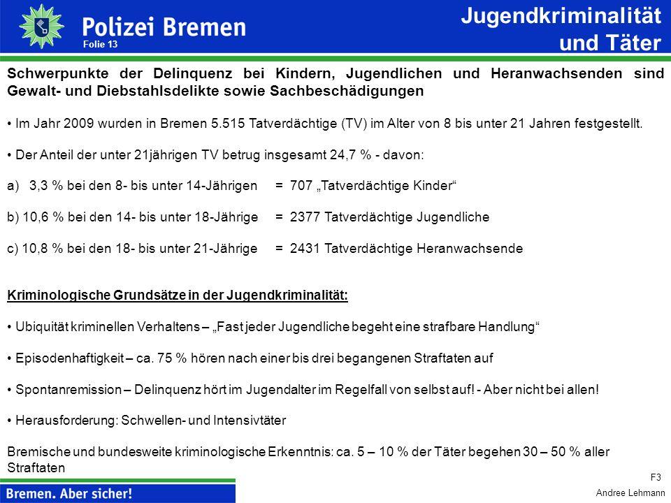 Andree Lehmann Folie 12 Schwerpunkt - Umsetzung der Konzeption Stopp der Jugendgewalt Regierungskoalition 2007/ 2011: Innen-, Justiz-, Jugend- u. Bild