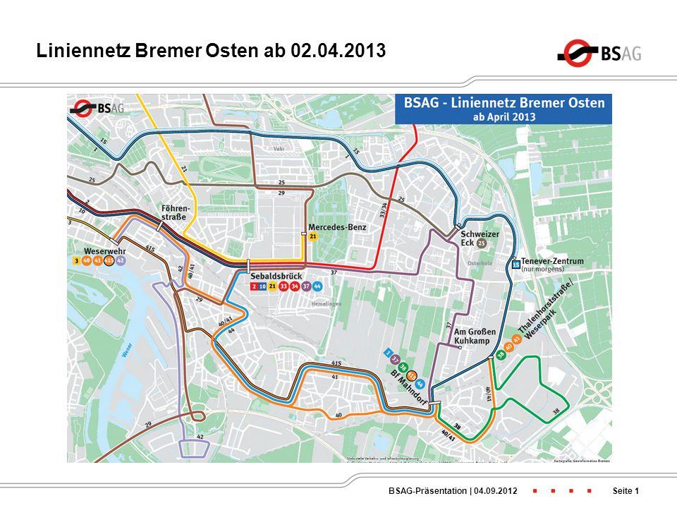 Änderung zum Jahresfahrplan 2013/2014 Präsentation im Fachausschuss Bau, Verkehr und Stadtentwicklung des Beirates Hemelingen am 04.09.2012