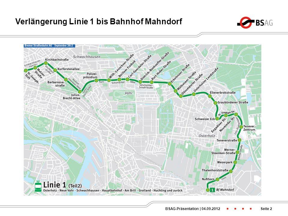 Liniennetz Bremer Osten ab 02.04.2013 Seite 1BSAG-Präsentation   04.09.2012