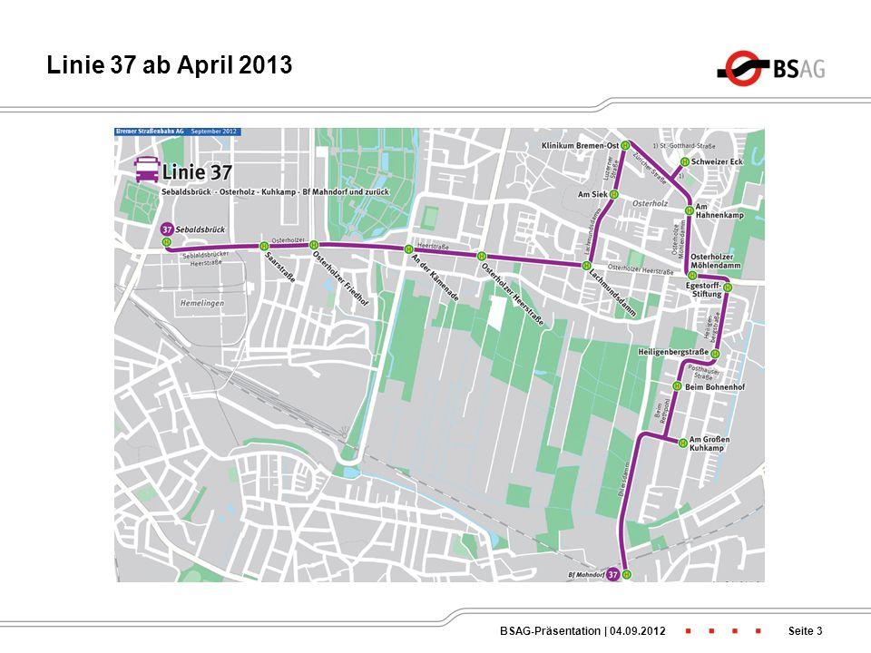Verlängerung Linie 1 bis Bahnhof Mahndorf Seite 2BSAG-Präsentation   04.09.2012