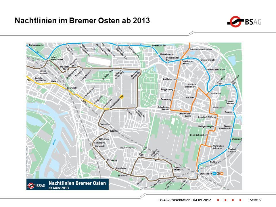 -Die Anschlüsse in der Schwachverkehrszeit funktionieren auch zukünftig nur von Hemelingen in Richtung Osterholz, jedoch nur auf der Linie 40 -Daher k