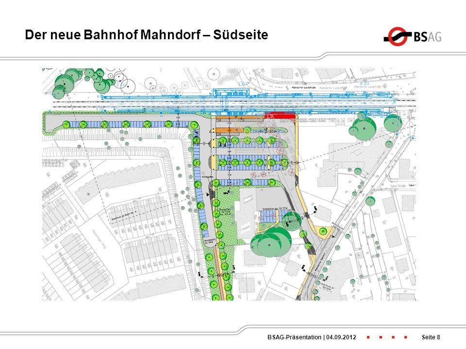 Der neue Bahnhof Mahndorf – Nordseite Seite 7BSAG-Präsentation   04.09.2012