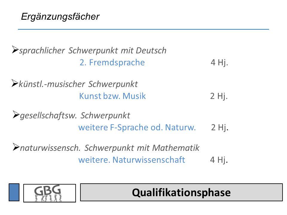 Qualifikationsphase sprachlicher Schwerpunkt mit Deutsch 2.