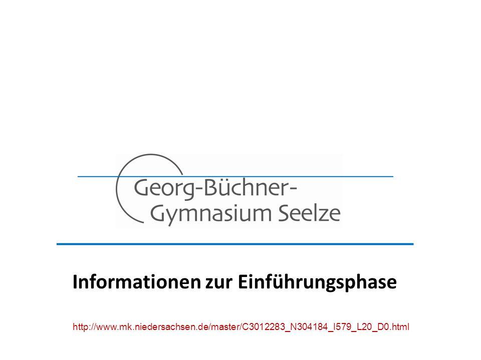 Informationen zur Einführungsphase http://www.mk.niedersachsen.de/master/C3012283_N304184_I579_L20_D0.html