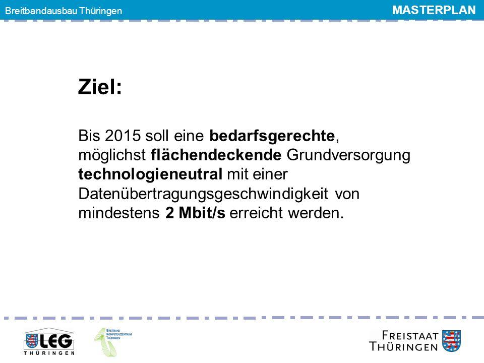 Breitbandgipfel 24. Juni 2011 Ziel: Bis 2015 soll eine bedarfsgerechte, möglichst flächendeckende Grundversorgung technologieneutral mit einer Datenüb