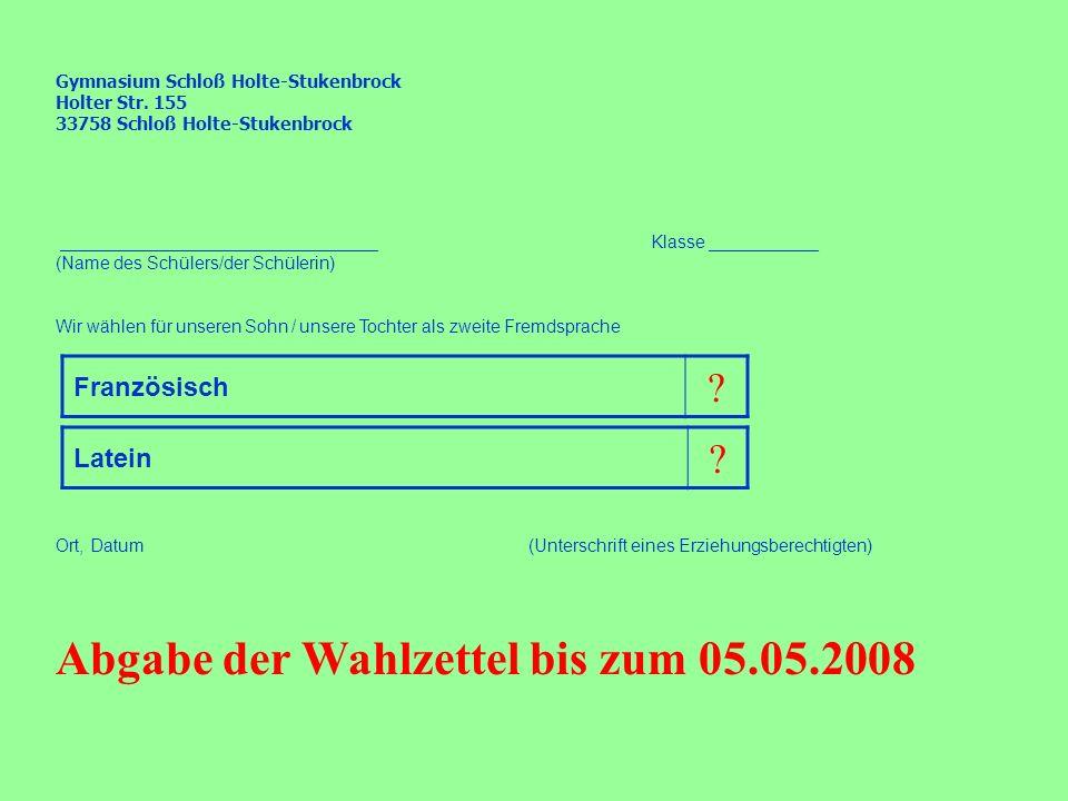 Gymnasium Schloß Holte-Stukenbrock Holter Str.