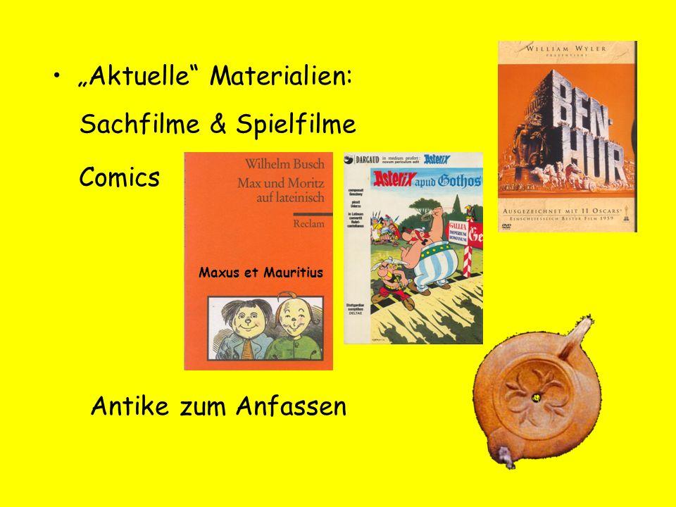 Aktuelle Materialien: Maxus et Mauritius Sachfilme & Spielfilme Comics Antike zum Anfassen