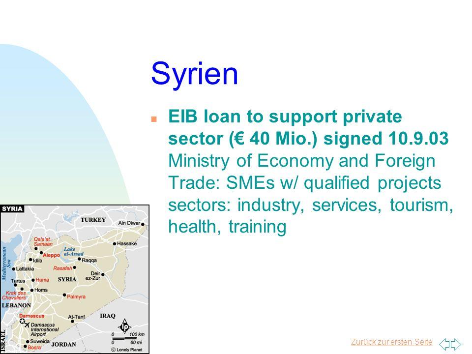 Zurück zur ersten Seite Ägypten ( 5.9.2003) n Social Dev. & Civil Society: Children at risk ( 20 Mio.) n improve financing system benefit of small-sca