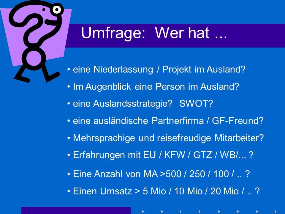 Hürden für deutsches Consulting KMU - Struktur Finanzierung (Basel) Angebotssprache andere Kulturen...