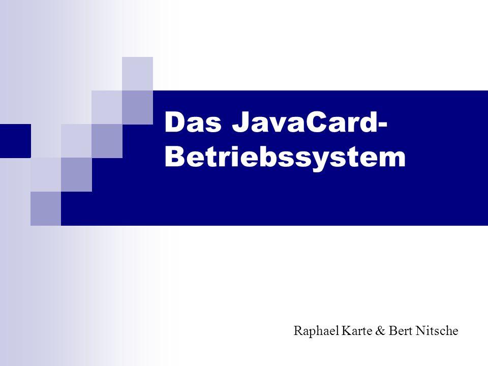 Das JavaCard- Betriebssystem Raphael Karte & Bert Nitsche