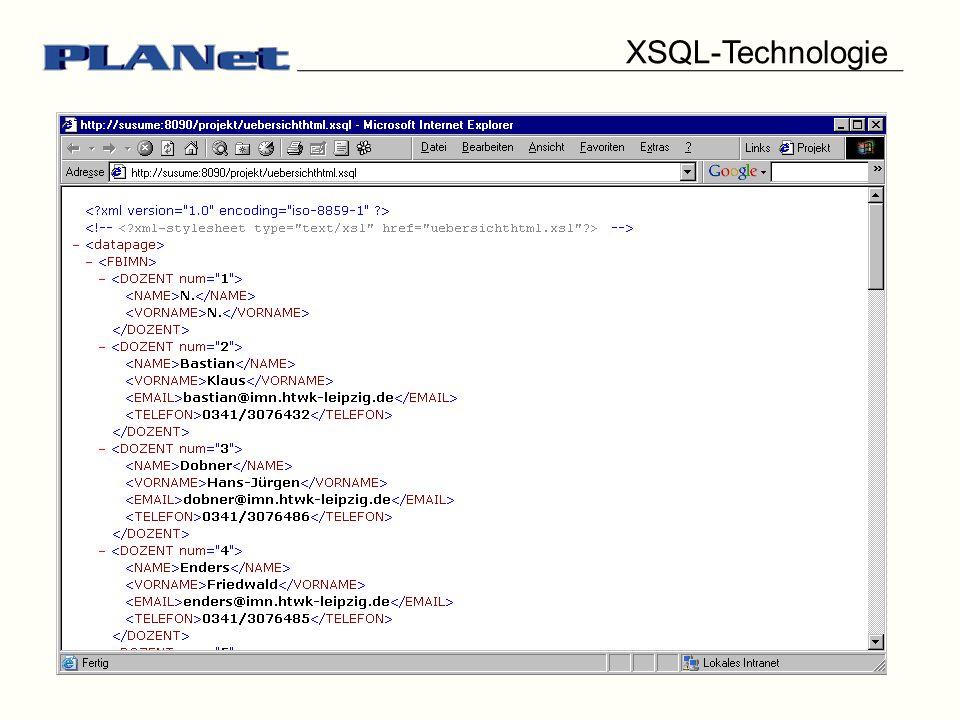 XSQL-Technologie