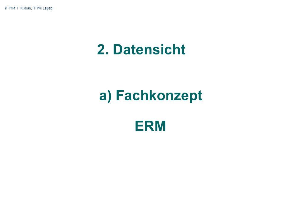 © Prof. T. Kudraß, HTWK Leipzig 17 2. Datensicht a) Fachkonzept ERM