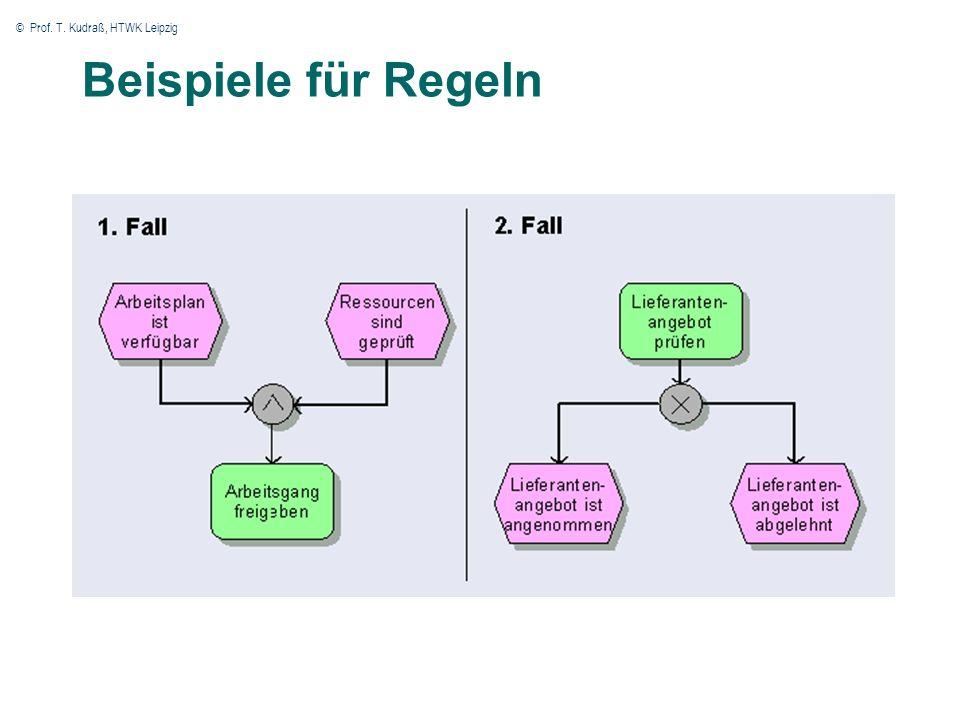 © Prof. T. Kudraß, HTWK Leipzig 44 Beispiele für Regeln