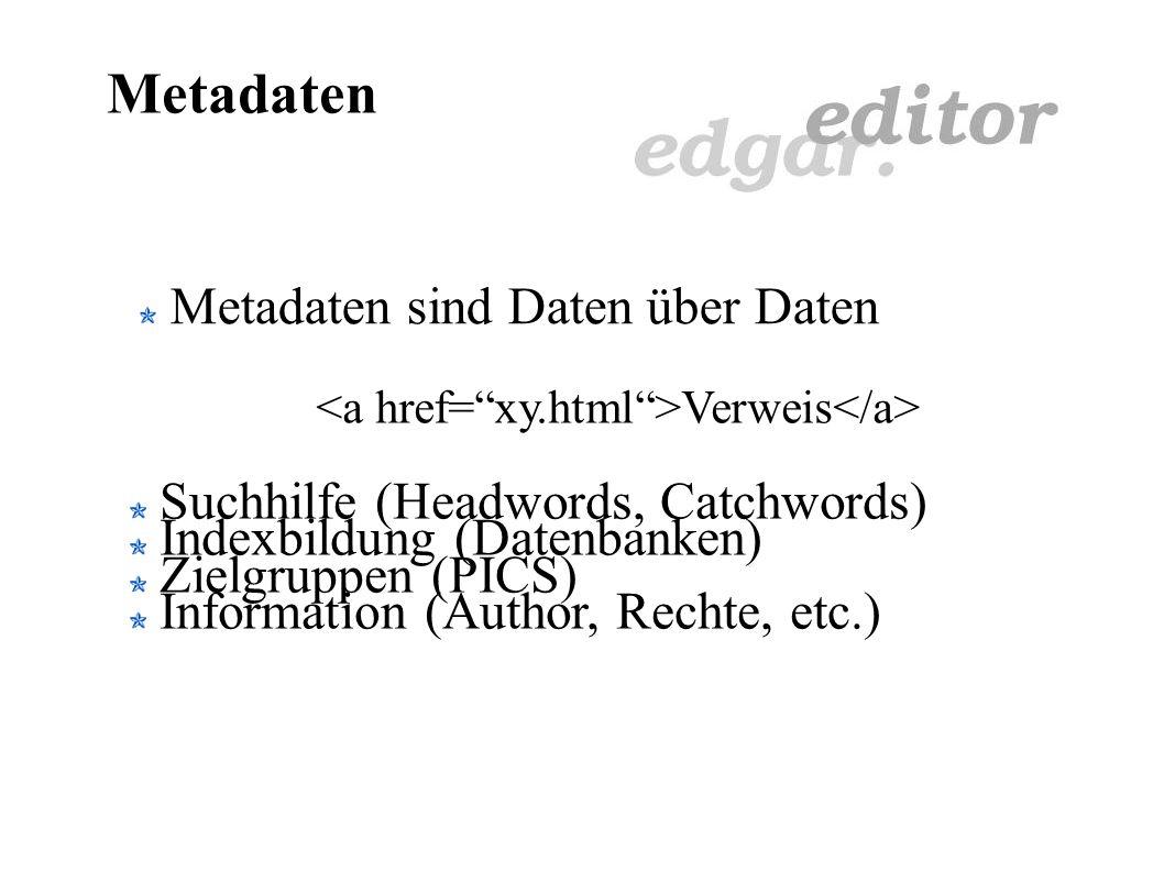 XML - Minimieren Probleme: Stacks merken sich nur abgearbeitete Zustände Sonderfälle (Align, Background, Underline) Vorteile: Aktueller Zustand im Dokument immer abrufbar Anwendbar beim Lesen und Schreiben Kleinere Dateien (Internetübertragung)
